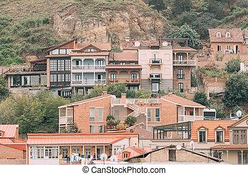 residencial, pueblo viejo, tbilisi, distrito, georgia.