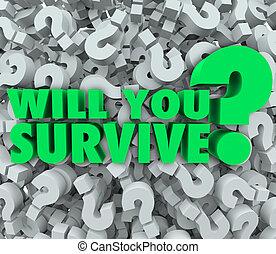 resistencia, signo de interrogación, voluntad, plano de fondo, sobrevivir, usted, supervivencia