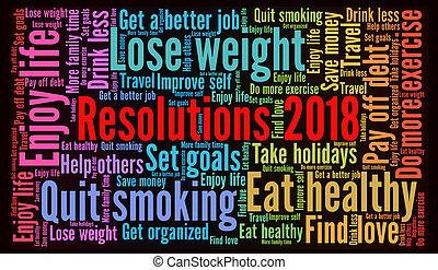 Resoluciones 2018 palabra nube