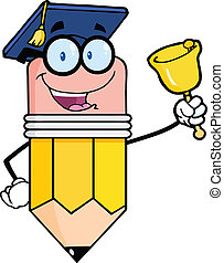 resonante, lápiz, profesor, campana