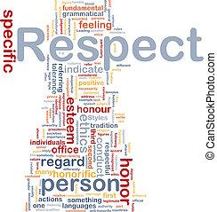 respeto, concepto, plano de fondo