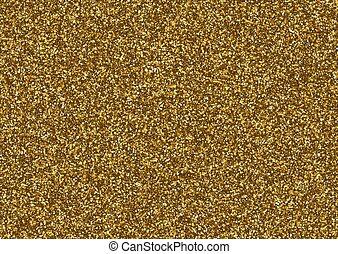 resplandor, el consistir, textura, pequeño, stars., dorado