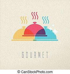 Restaurante Gourmet restaurante de alimentos plato de color diseño de colores