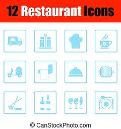 Restaurante icono set