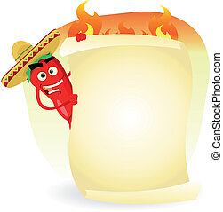 restaurante, mexicano, bandera, especia, alimento