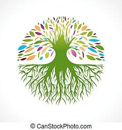 resumen, árbol, vitalidad