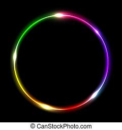 resumen, círculo, multicolor