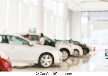 resumen, coche, mancha, sala de exposición