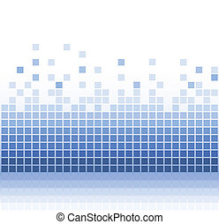 resumen, cuadrado, agua, pixel, mosaico