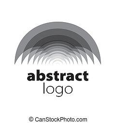 resumen, espectro, vector, hojas, logotipo, curvo