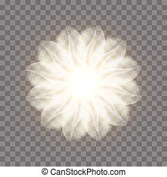 resumen, flower., ilustración, fractal, vector