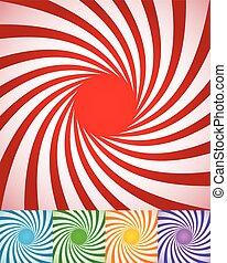 resumen, girar, lines., fondos, spirally, radial, torcido