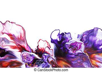 resumen, líquido, arte, colorido, plano de fondo
