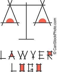 resumen, logotype, abogado, escalas