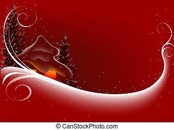 resumen, navidad, rojo