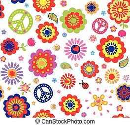 resumen, papel pintado, flujo, hippie
