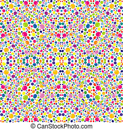 resumen, patrón, puntos, fondo blanco, coloreado