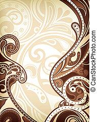 resumen, plano de fondo, chocolate