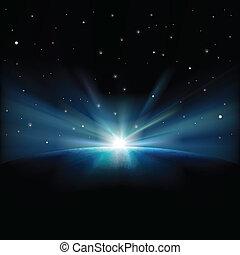 resumen, plano de fondo, estrellas, espacio