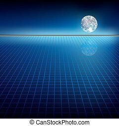 resumen, plano de fondo, luna