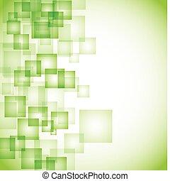 resumen, plano de fondo, verde, cuadrado
