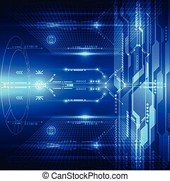 resumen, sistema, ilustración, plano de fondo, vector, futuro, tecnología