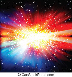 resumen, supernova, estrellas, plano de fondo