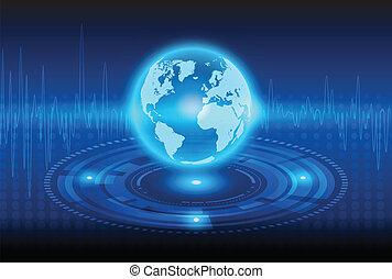 resumen, tecnología, globalización, plano de fondo, mecánico