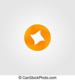 resumen, vector, icono, hoja, ilustración, círculo, otoño, logotipo