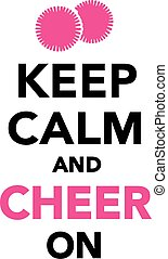 retener, aclamación, cheerleading, calma