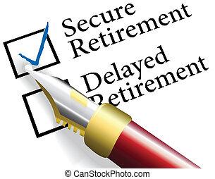 retiro, seguro, inversión, elegir