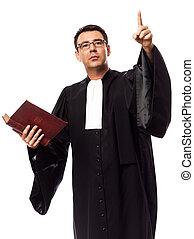 retrato, abogado, hombre