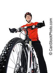 retrato, ciclista