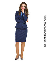 Retrato completo de una mujer de negocios