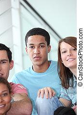 Retrato de adolescentes