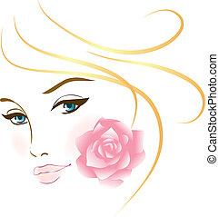 Retrato de chica guapa