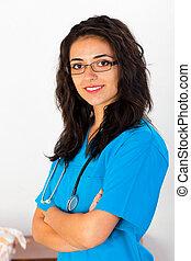 Retrato de enfermera médica