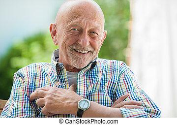 Retrato de hombre mayor