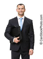 Retrato de media longitud de un hombre de negocios