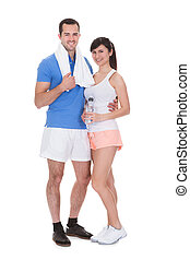 Retrato de pareja trabajando