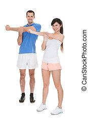Retrato de parejas ejercitándose
