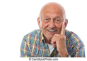 Retrato de un anciano feliz