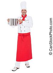 Retrato de un apuesto cocinero