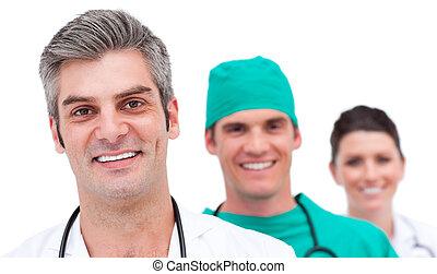 Retrato de un equipo médico exitoso
