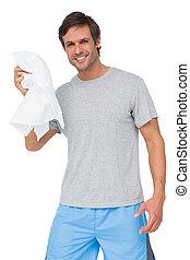 Retrato de un joven con toalla