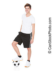 Retrato de un jugador de fútbol
