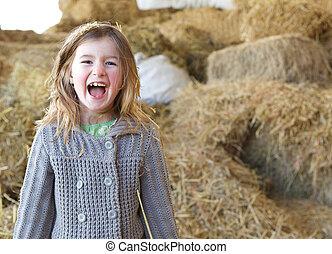 Retrato de una joven riendo