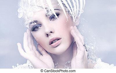 Retrato de una linda dama