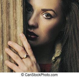 Retrato de una morena de belleza