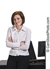 Retrato de una mujer de negocios